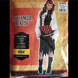 Girl Buccaneer Beauty Child Size XL